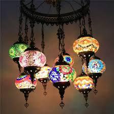 amazing turkish 9 mosaic glass turkish hanging light hot energy saving istanbul lamp led lamps