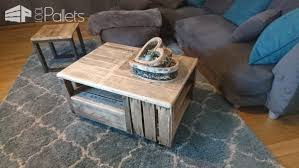 pallet crate furniture. The Rustic Style And Charm Of This Pallet Crate Coffee Table Highlights Your Other Furniture While E