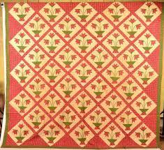 Old Vintage Patchwork Quilts Appliquac Frame And Strippy Quilt ... & ... Antique Patchwork Quilts For Sale Vintage Patchwork Quilts For Sale Uk  Grand Panier De Tulipes Patchwork ... Adamdwight.com