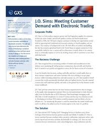 J.O. Sims: Meeting Customer Demand with Electronic Trading