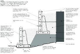 retaining wall calculator retaining wall foundations block retaining wall footing design retaining wall foundations image result