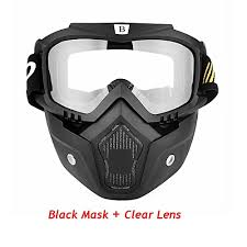 <b>Generic Motorcycle</b> Mask Motocross Detachable Face Mask Open ...