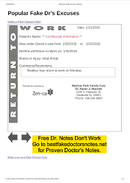 Best Illness To Fake To Get A Doctors Note 039 Template Ideas Doctors Note Doctor Excuse Forms For Best