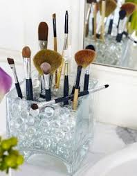 makeup brush holder beads. i could have created an entire post just on pretty containers for storing brushes\u2026 use makeup brush holder beads