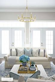 spring living room decorating blue