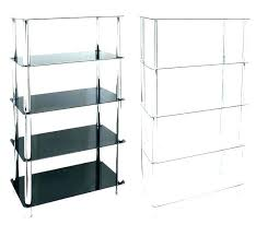 glass shelving unit corner unit glass shelf unit shelving black corner units white gloss shelves house glass shelving