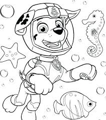 Paw Patrol Coloring Sheets And Marshall Paw Patrol Coloring Page