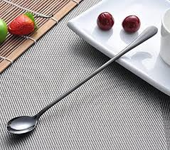 Buy Zicome 9 Inches Stainless Steel Long Handle Ice Cream Spoon, Iced Tea  Spoon, Coffee Mixing Spoon, Cocktail Stirring Spoons, Set Of 8 Online at  Low Prices in India - Amazon.in
