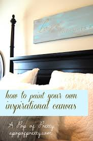 DIY Wall Art Idea #15: How to Paint an Inspirational-Quote Canvas |