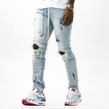 Light Blue Jeans Streetwear Wynwood Denim Light Wash Streetwear Official