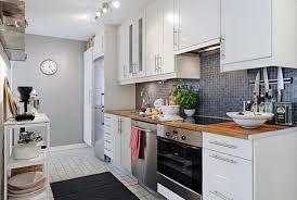 Kitchen Backsplash With White Cabinets L Shape Brown Kitchen Cabinet