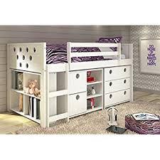 kids loft bed. Donco Kids Twin Circles Modular Low Loft Bed In White Kids Loft Bed