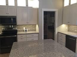 silestone alpina white with tile contemporary kitchen milwaukee
