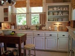 country kitchen ideas white cabinets. Old Red Kitchen Design Rustic Country Curtains The Small Breakfast Space Some White Cabinets Ideas