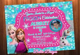 Sample Birthday Invitation Card Frozen Theme