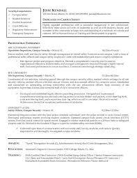 Security Officer Skills Resume Security Guard Resume Sample Resume