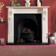 alyson white finish fireplace