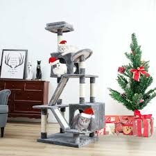 Cat Tree Designs Free Eu Domestic Delivey Pet Toy Cat Furniture Scratched Wooden Tree Cat Jump Toys Cat House Tree Cheap Cat Tower Rascador Gato