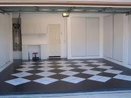image of painted garage floor pattern