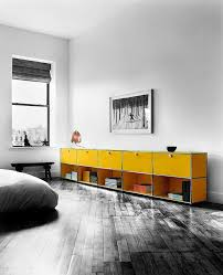 modular furniture bedroom. usm haller goldenyellow credenza with 5 storiage and shelving cabinets contemporary bedroom furniture modular