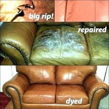 repair rip leather couch how to a tear fix torn seam sofa