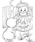 Раскраски котята и щенята