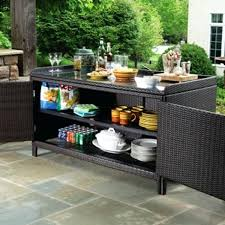 elegant patio furniture storage and exterior offers the all weather wicker outdoor sideboard console storage table