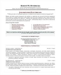 Electrician Resume Example Fascinating Residential Electrician Resume Best Resume Template Whizzme