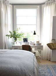 bay window master bedroom. Perfect Bay A London Flat Filled With Light  DesignSponge IKEA Curtains Bay Window For Master Bedroom O