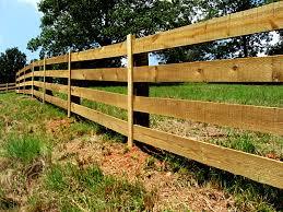 wooden farm fence. 4 Board Rough Sawn Wood Pasture Fence Wooden Farm F