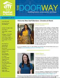 News Letters Newsletters Gwinnett Habitat For Humanity