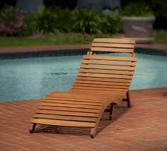 wood outdoor chaise lounge chair patio