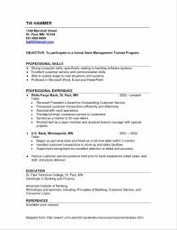 Resume Samples For Experienced In Banking Refrence Banking Resume