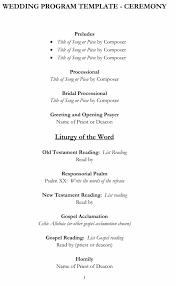 wedding program template free word 37 printable wedding program examples templates template lab