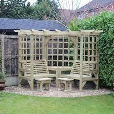 croft clementine 4 seat garden arbour