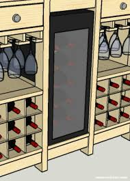 diy wine credenza with wine refrigerator how to build a cabinet around a wine cooler