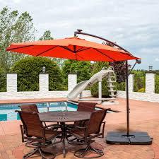 foot offset solar led patio umbrella