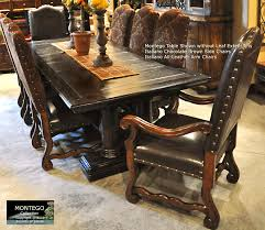excellent montego long extension dining room table seats up to 12 all brown leather dining room chairs plan