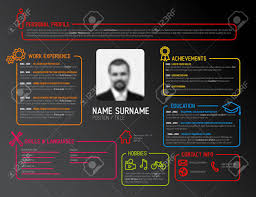 Original Resume Template Vector Original Minimalist Cv Resume Template Dark Creative 33