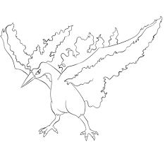 Small Picture Moltres coloring page Free Printable Coloring Pages