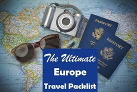 europe travel ng checklist