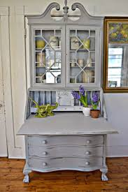 heir and space gray painted secretary desk
