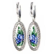 bluebell finift enamel earrings
