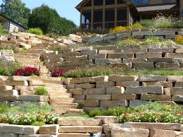 stone retaining wall in twin lakes wi