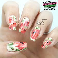 Nailvengers Assemble! - Floral Nail Art   Watercolour Effect ...