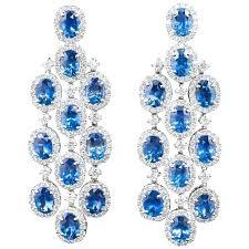 chandelier earings classic sapphire diamond chandelier earrings for chandelier diamond earrings white gold chandelier earrings