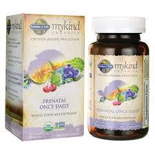 garden of lifemykind organics prenatal once daily whole food multivit