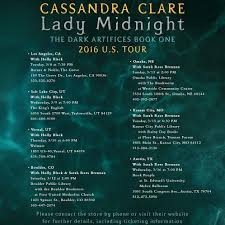 we are under a month away until lady midnight from candra clare s the dark artifices series is released along with her uk tour cie will also be