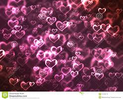 Glowing Pink Hearts Background Stock Illustration Illustration Of