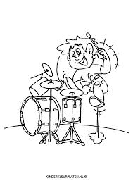 Kleurplaat Drummer Drumstel Beroepen